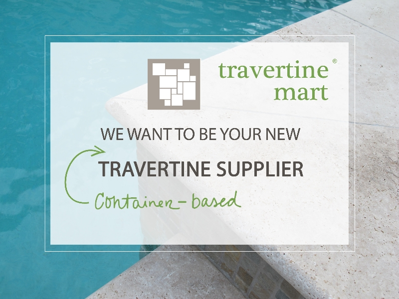 travertine mart containers