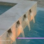 12x12 Ivory Travertine Pool Coping