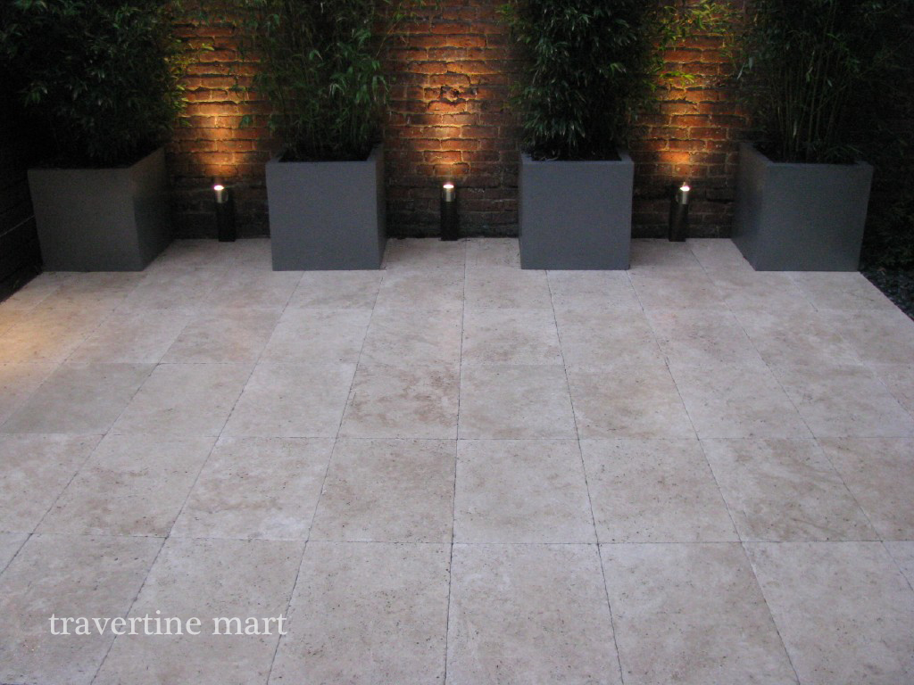 16x24 Ivory Travertine Pavers