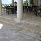 6x12 Walnut Tumbled Travertine Pavers