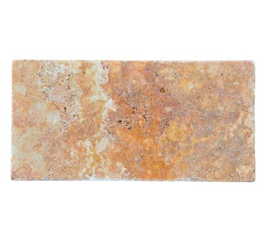 Premium Select 6×12 Autumn Blend Tumbled Travertine Pavers