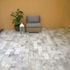 6x12 Silver Travertine Pavers