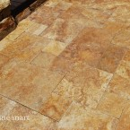 French Pattern Gold Travertine Pavers