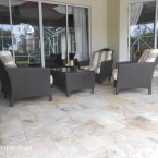 French Pattern Roman Blend Tumbled Travertine Pavers