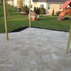 French Pattern Walnut Tumbled Travertine Pavers