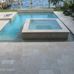 French Pattern Ivory Travertine Pavers