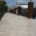 French Pattern Ivory Tumbled Travertine Pavers