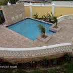 6x12 Noche Tumbled Travertine Pavers