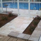 French Pattern Ivory Swirl Travertine Pavers