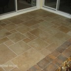 Brushed & Chiseled Walnut Travertine Tiles
