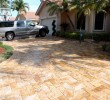 6x12 Gold Chiseled Travertine Pavers