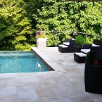 French Pattern Ivory Swirl® Travertine Pavers and Pool Tiles