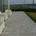 6x12 Ivory Tumbled Travertine Pavers