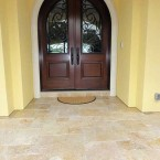 French Pattern Ivory Swirl Tumbled Travertine Pavers
