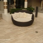 French Pattern Medium River Tumbled Travertine Pavers