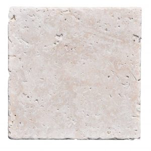 Premium Select 12x12 Ivory Tumbled Travertine Pavers