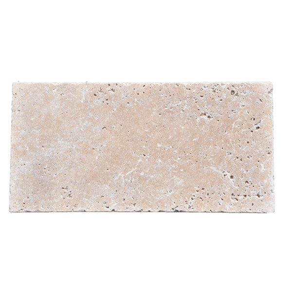 Premium Select 8×16 Ivory Tumbled Travertine Pavers *FALL PRE-ORDER SALE* (Until 10/23/20) (300px)