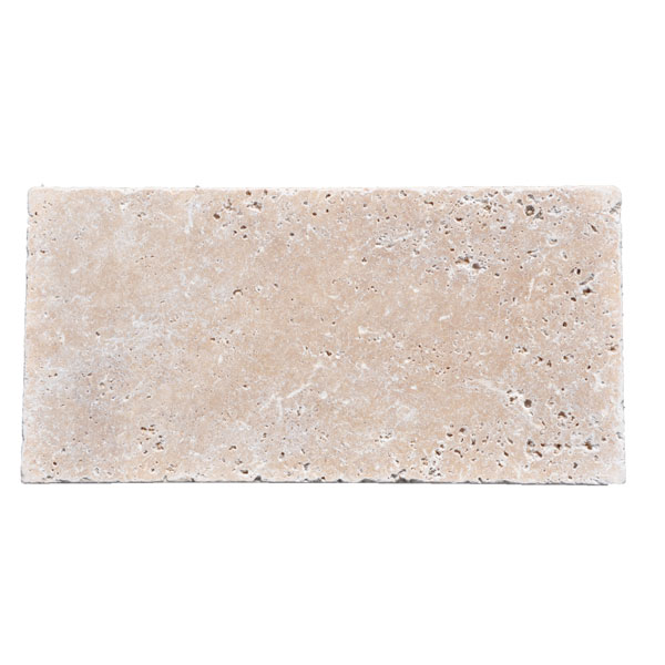 Premium Select 8x16 Ivory Tumbled Travertine Pavers