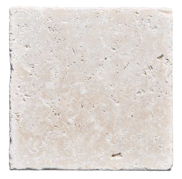 Premium Select 8x8 Ivory Tumbled Travertine Pavers
