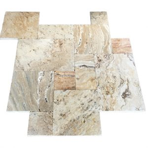 French Pattern Leonardo Travertine Paver