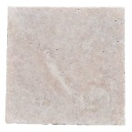 Premium Select 16x16 Ivory Tumbled Travertine Pavers