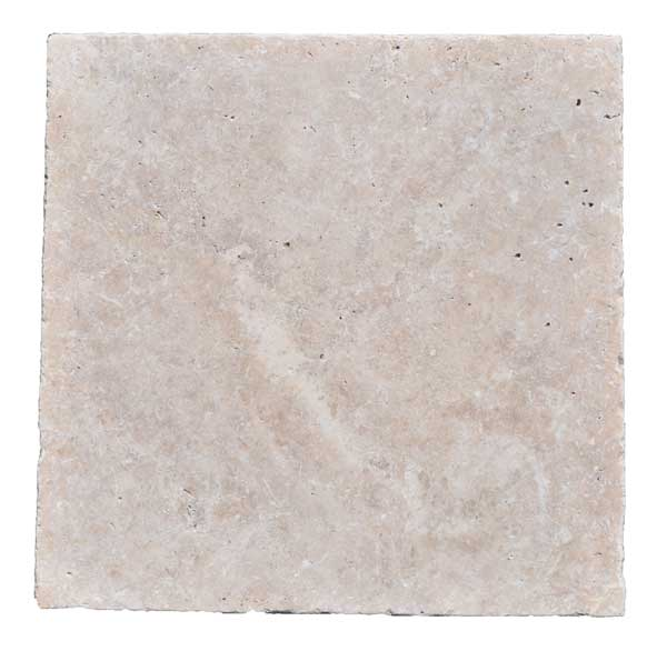 Premium Select 16×16 Ivory Tumbled Travertine Pavers