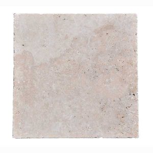 Premium Select 24x24 Ivory Tumbled Travertine Pavers