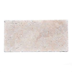 Premium Select 6x12 Ivory Tumbled Travertine Pavers
