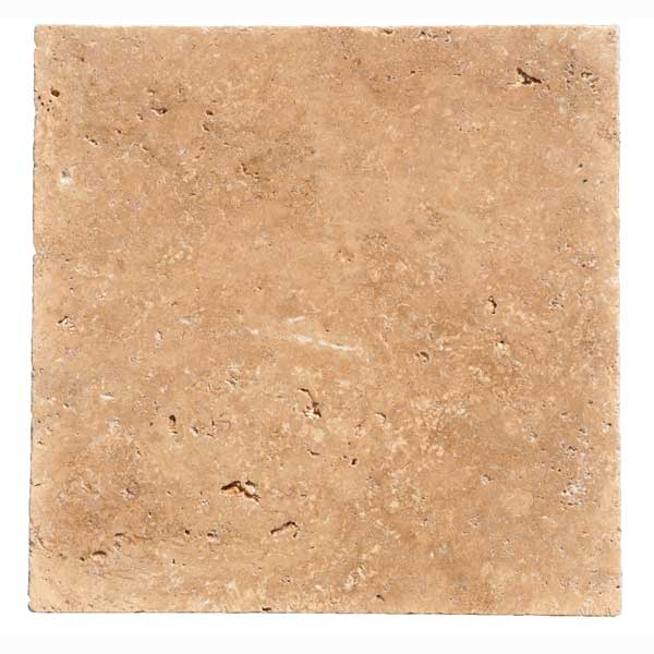 Premium Select 12×12 Noche Tumbled Travertine Pavers