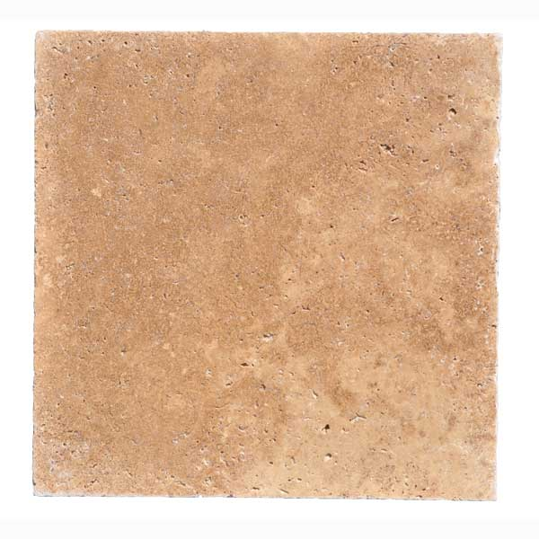 Premium Select 16×16 Noche Tumbled Travertine Pavers