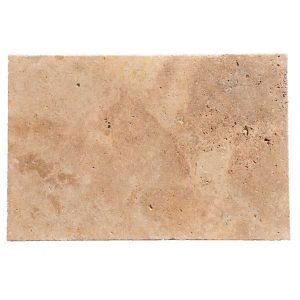 Premium Select 16x24 Walnut Tumbled Travertine Pavers