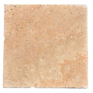 Premium Select 24x24 Walnut Tumbled Travertine Pavers