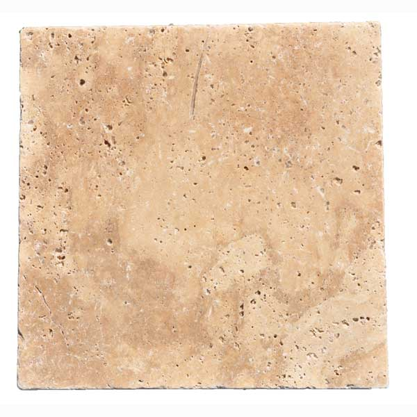 Premium Select 12x12 Walnut Tumbled Travertine Pavers