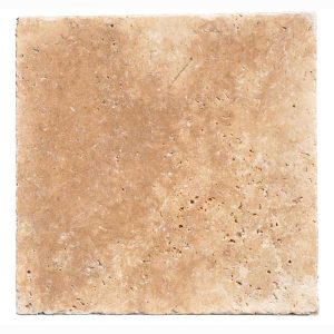 Premium Select 16x16 Walnut Tumbled Travertine Pavers