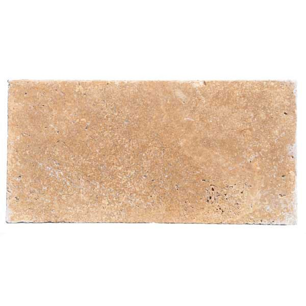 Premium Select 6×12 Walnut Tumbled Travertine Pavers (300px)