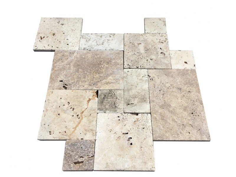Affordable Travertine Pavers Low Cost French Pattern