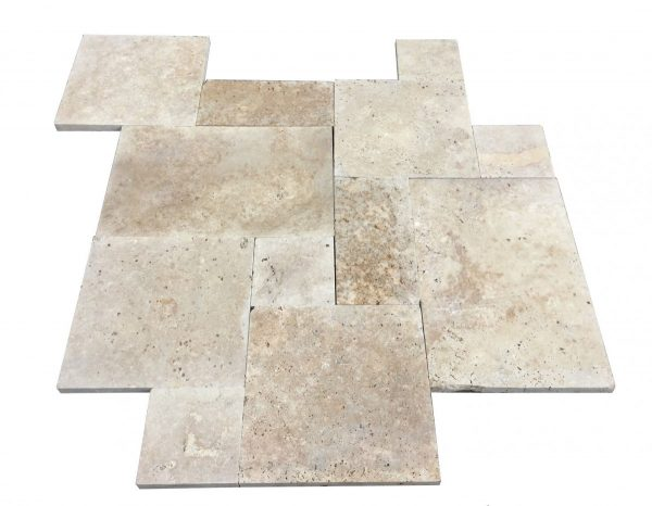 Premium Select Tumbled French Pattern Walnut Travertine Pavers *SPRING PRE-ORDER SALE* (Until 05/29/20) (300px)