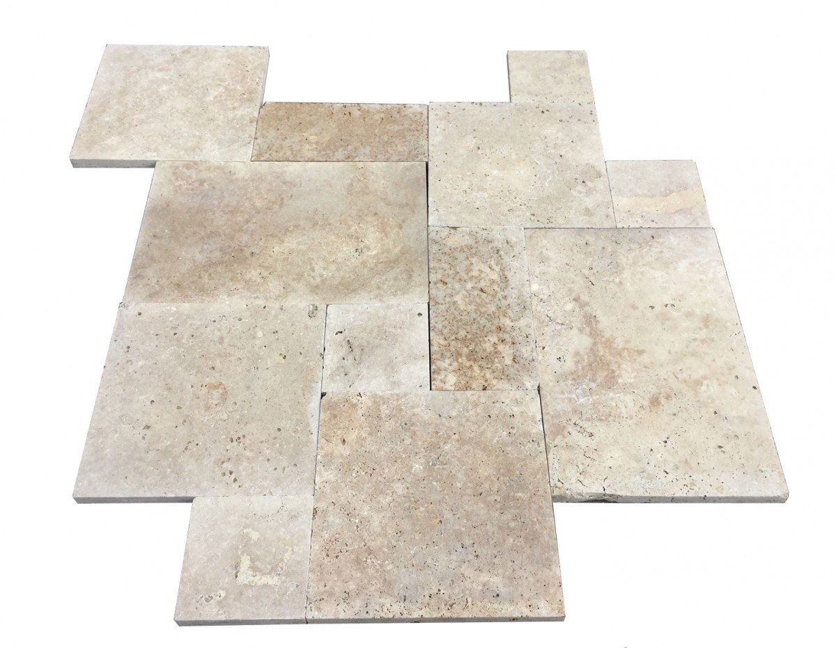 Premium select french pattern walnut travertine pavers premium select tumbled french pattern walnut travertine pavers markdown until 0216 dailygadgetfo Gallery