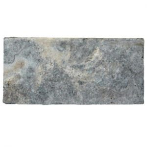 Premium Select 6x12 Silver Tumbled Travertine Pavers