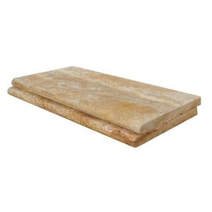 Captivating 12x24 Leonardo Travertine Pool Coping