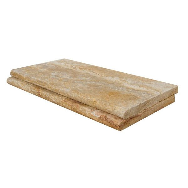 Premium Select 12×24 Leonardo Tumbled Travertine Pool Coping *NEW YEAR SALE* (Until 01/29/21) (300px)