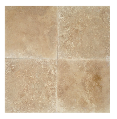18 x 18 Honed & Filled Medium Travertine Tile