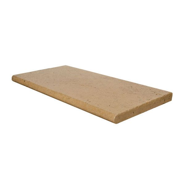 Premium Select 12×24 Walnut Tumbled Travertine Pool Coping (300px)