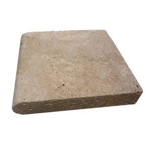 Premium Select 12×12 Walnut Tumbled Travertine Pool Coping 2 INCH