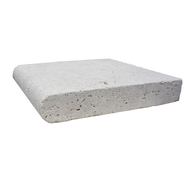 Premium Select 12×12 Ivory Tumbled Travertine Pool Coping 2 INCH