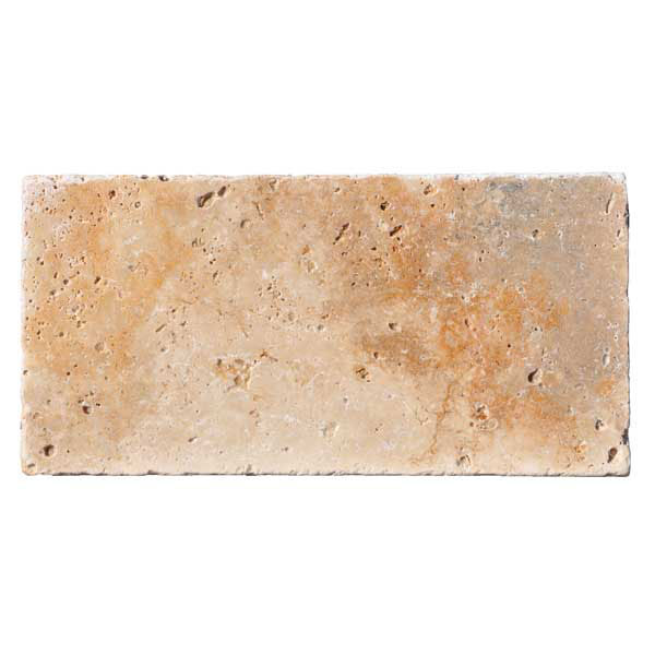 Premium Select 6x12 Country Classic Tumbled Travertine Pavers
