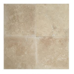 24x24 Honed & Filled Light Travertine Tiles