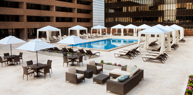 Hyatt Regency New Orleans Pool Patio Travertine Mart
