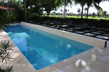 How To Clean Travertine Pool Coping