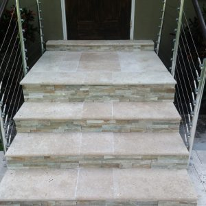 Good Travertine Stair Treads Pool Coping